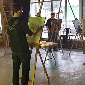 Observational drawing class